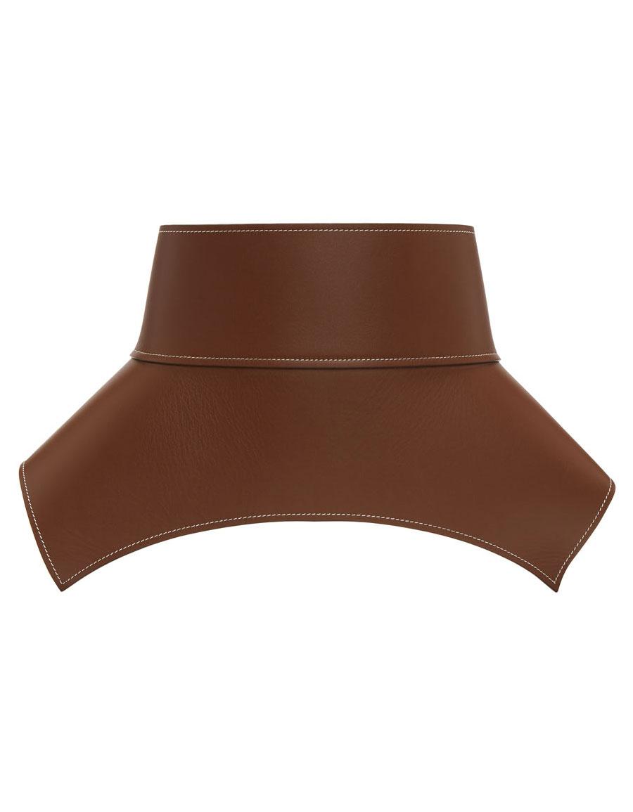 LOEWE Brown Leather Obi Belt