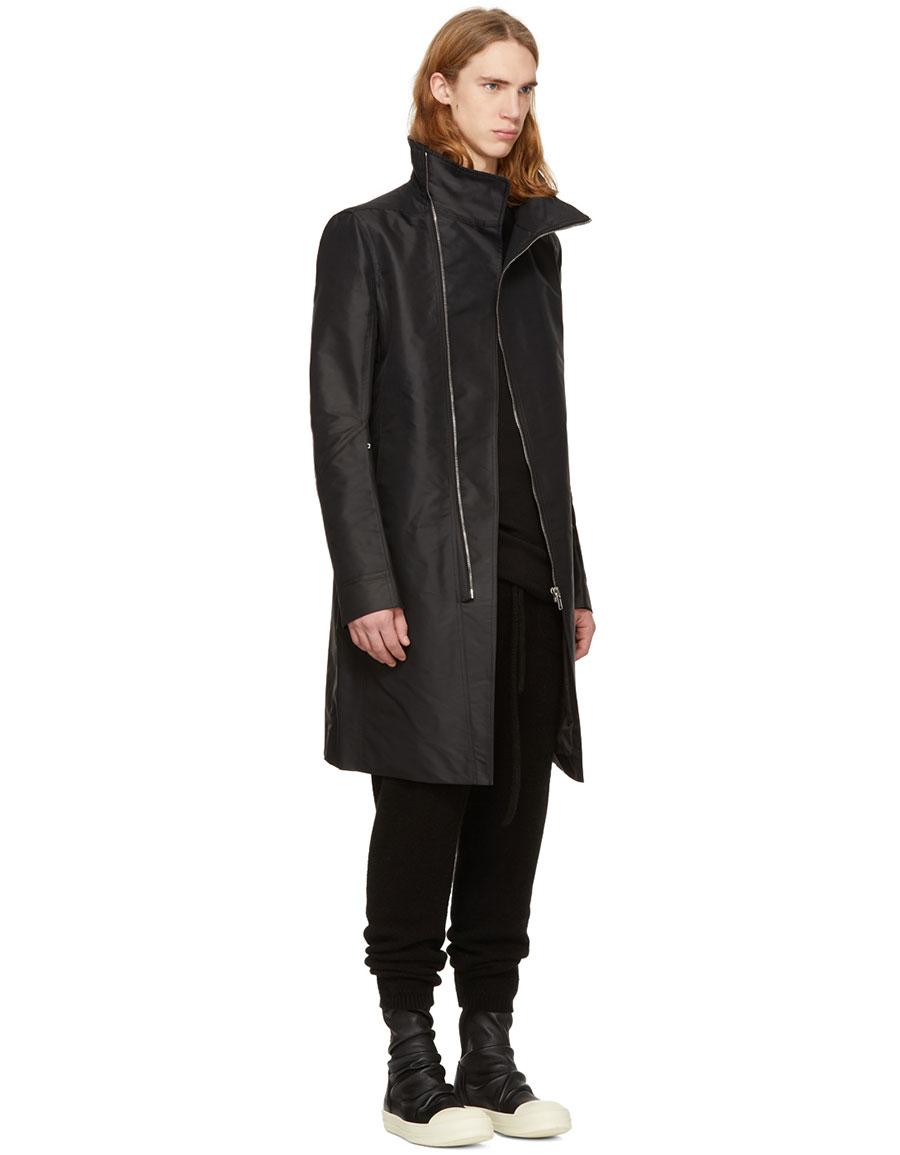 RICK OWENS Black Tubeway Coat