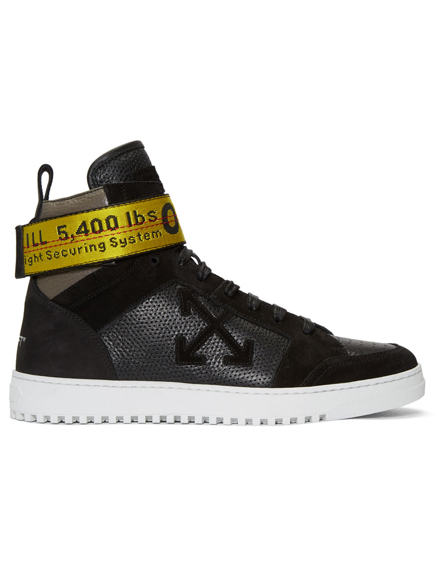 OFF WHITE Black Belt High Top Sneakers