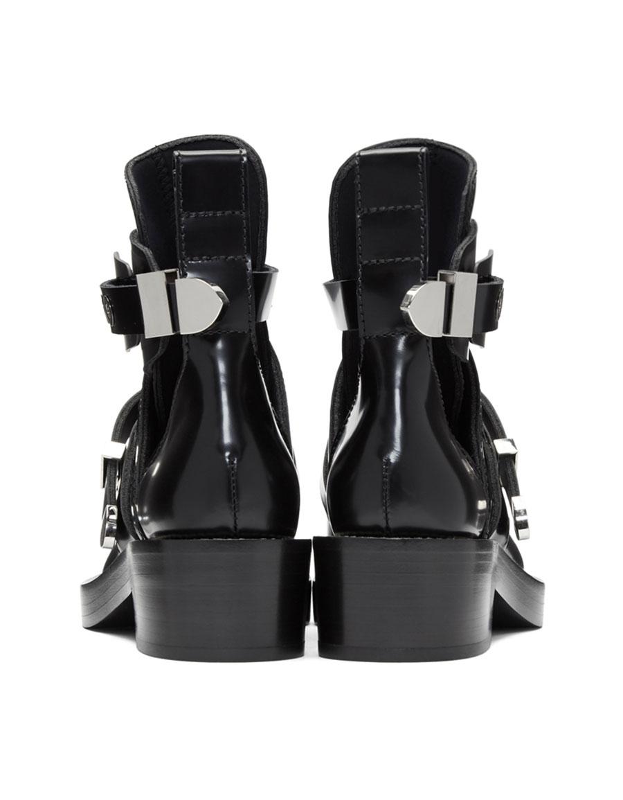 BALENCIAGA Black Ceinture Boots