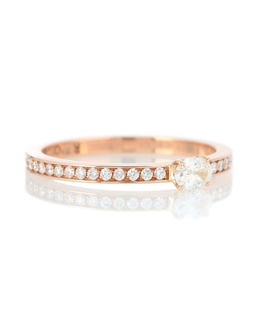 REPOSSI Harvest 18kt rose gold ring with diamonds