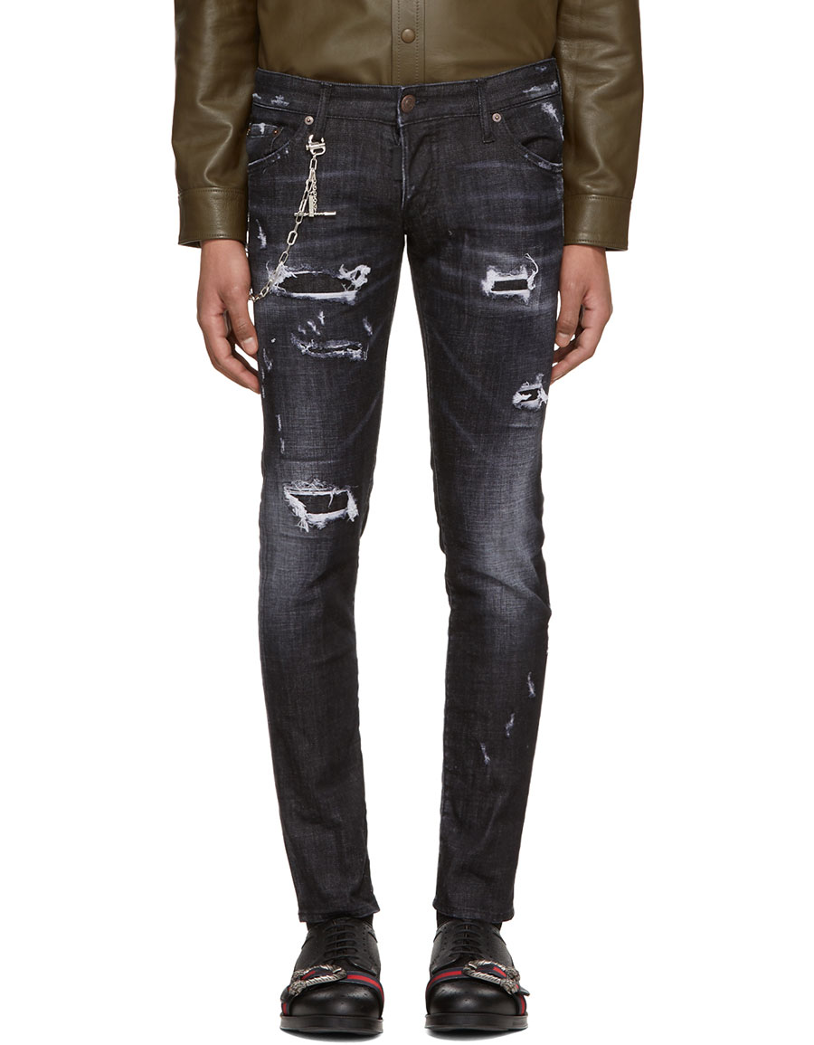 DSQUARED2 Black Regular Clement Jeans