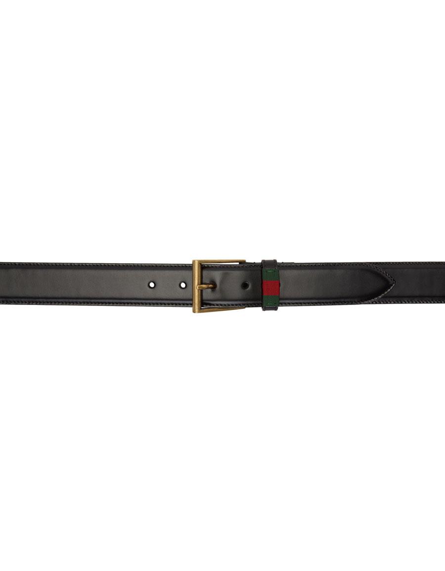 GUCCI Black Classic Web Belt