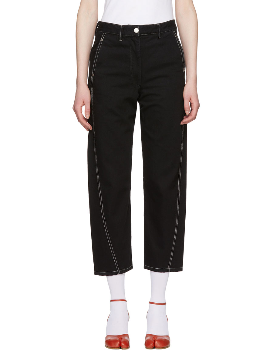 LEMAIRE Black Twisted Jeans