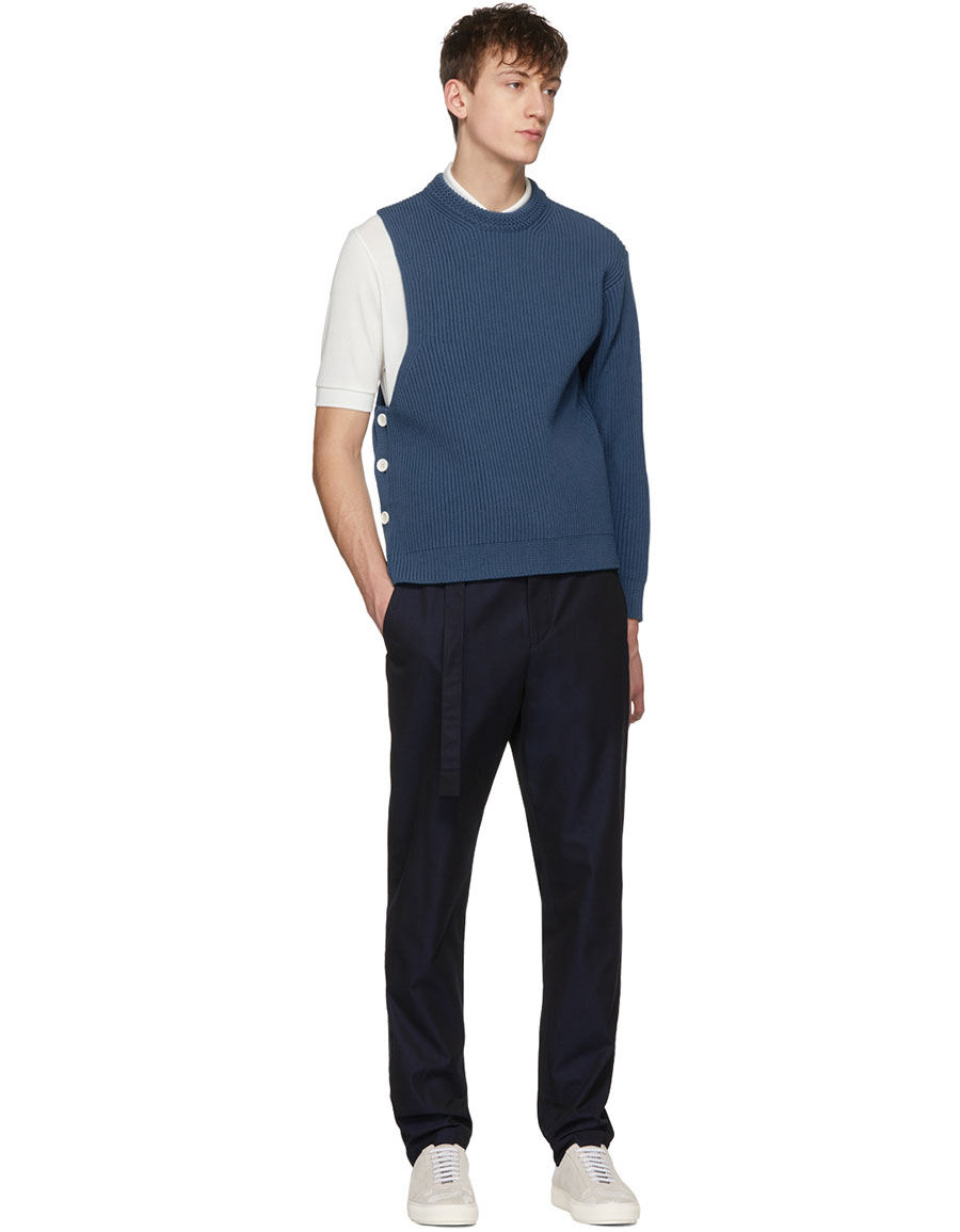 WOOYOUNGMI Blue One Sleeve Sweater