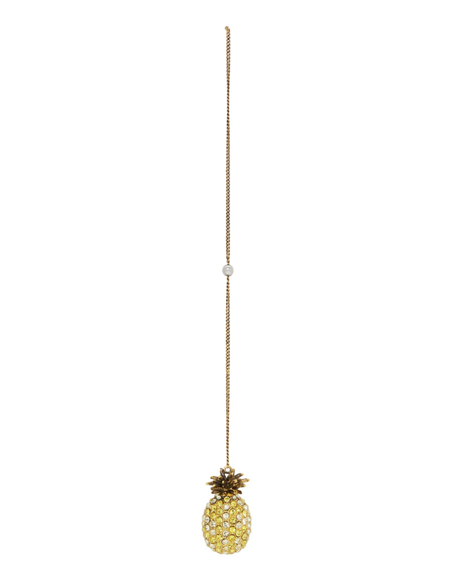 GUCCI Gold Single Pineapple Chain Earring