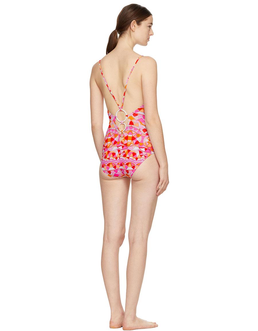 EMILIO PUCCI Pink Reno Swimsuit