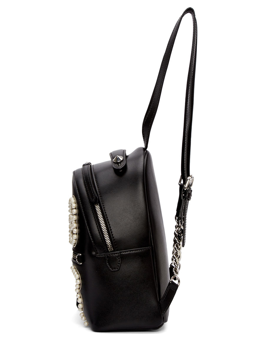 FENDI Black Mini 'Romantic Bow' Backpack