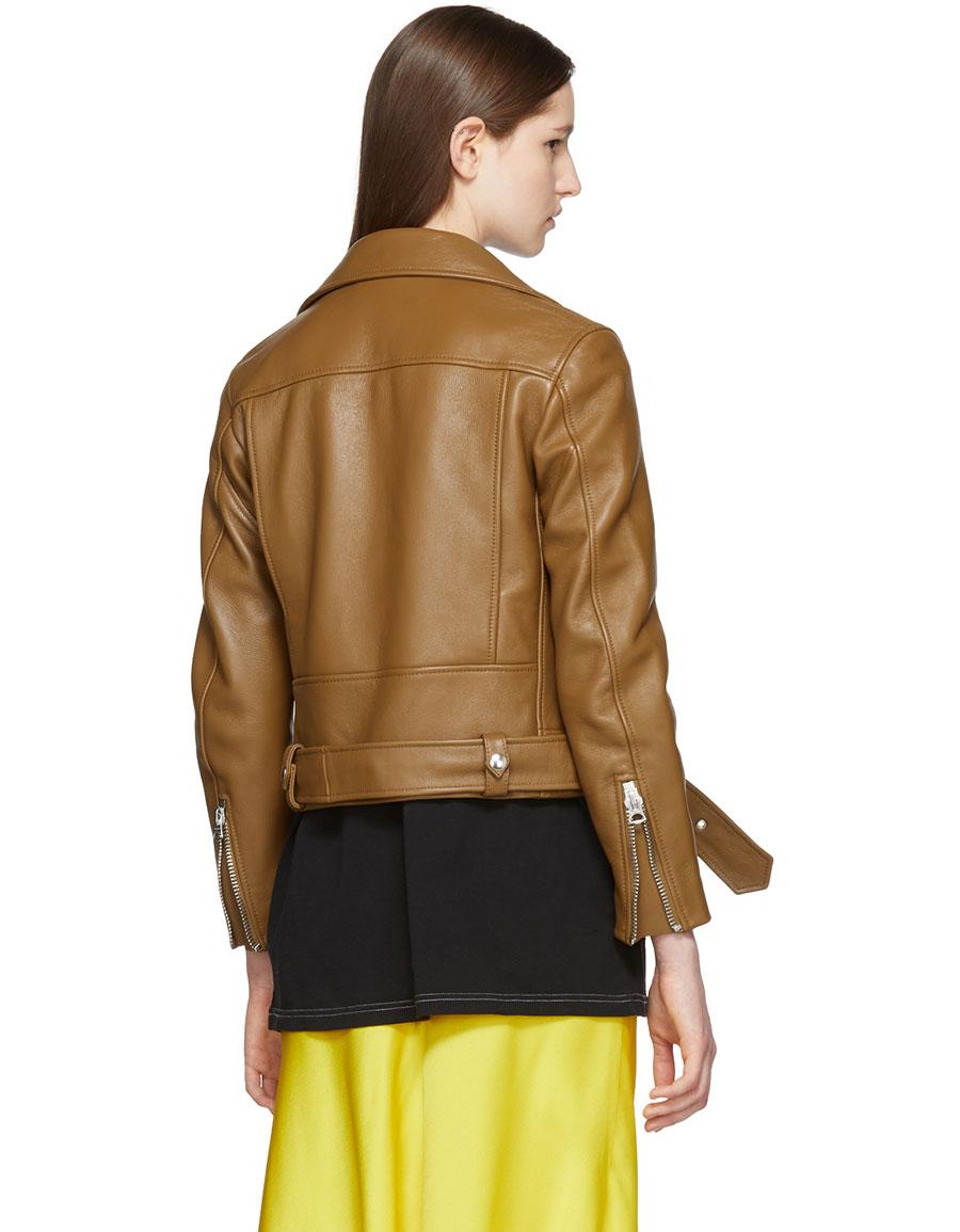 ACNE STUDIOS Tan Leather Mock Jacket