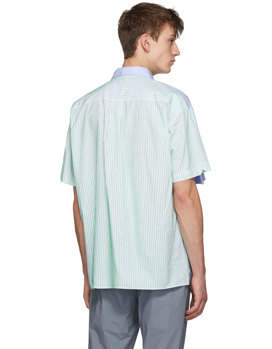 Y/PROJECT Blue Stripe Double Sleeve Shirt