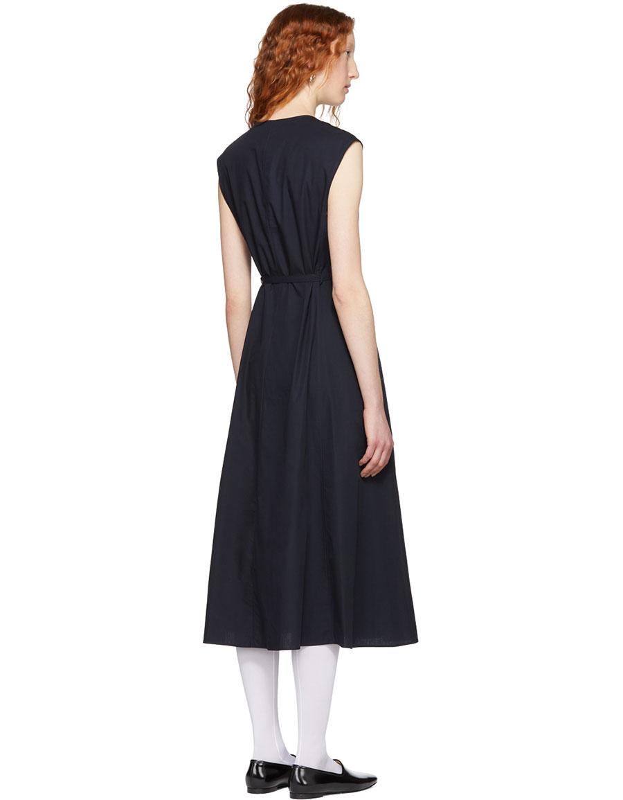 LEMAIRE Blue Sleeveless Dress