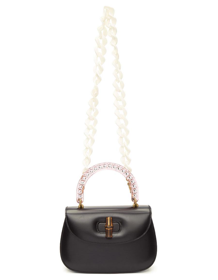GUCCI Black Medium Bamboo Bag