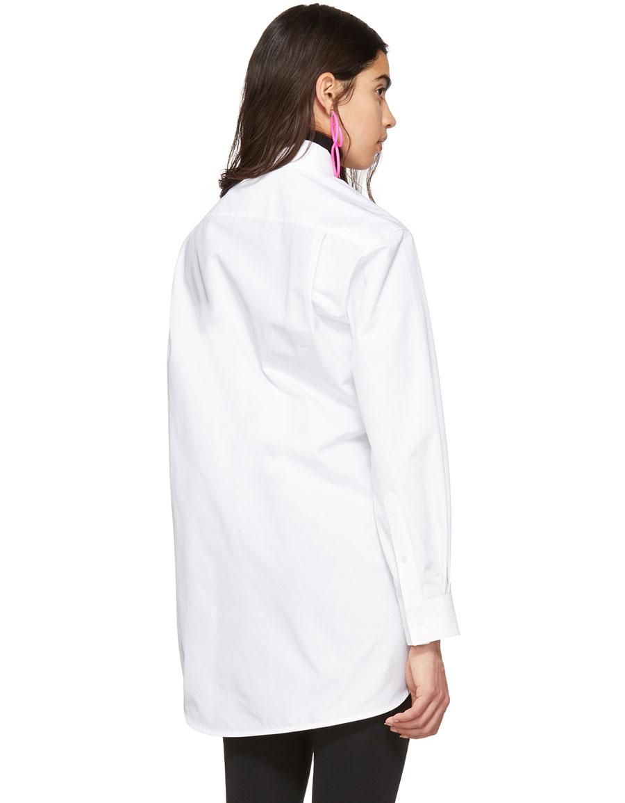 BALENCIAGA White Pulled Shirt