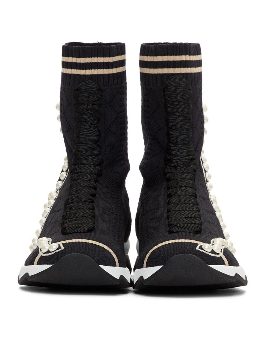 FENDI Black Pearl Sock High-Top