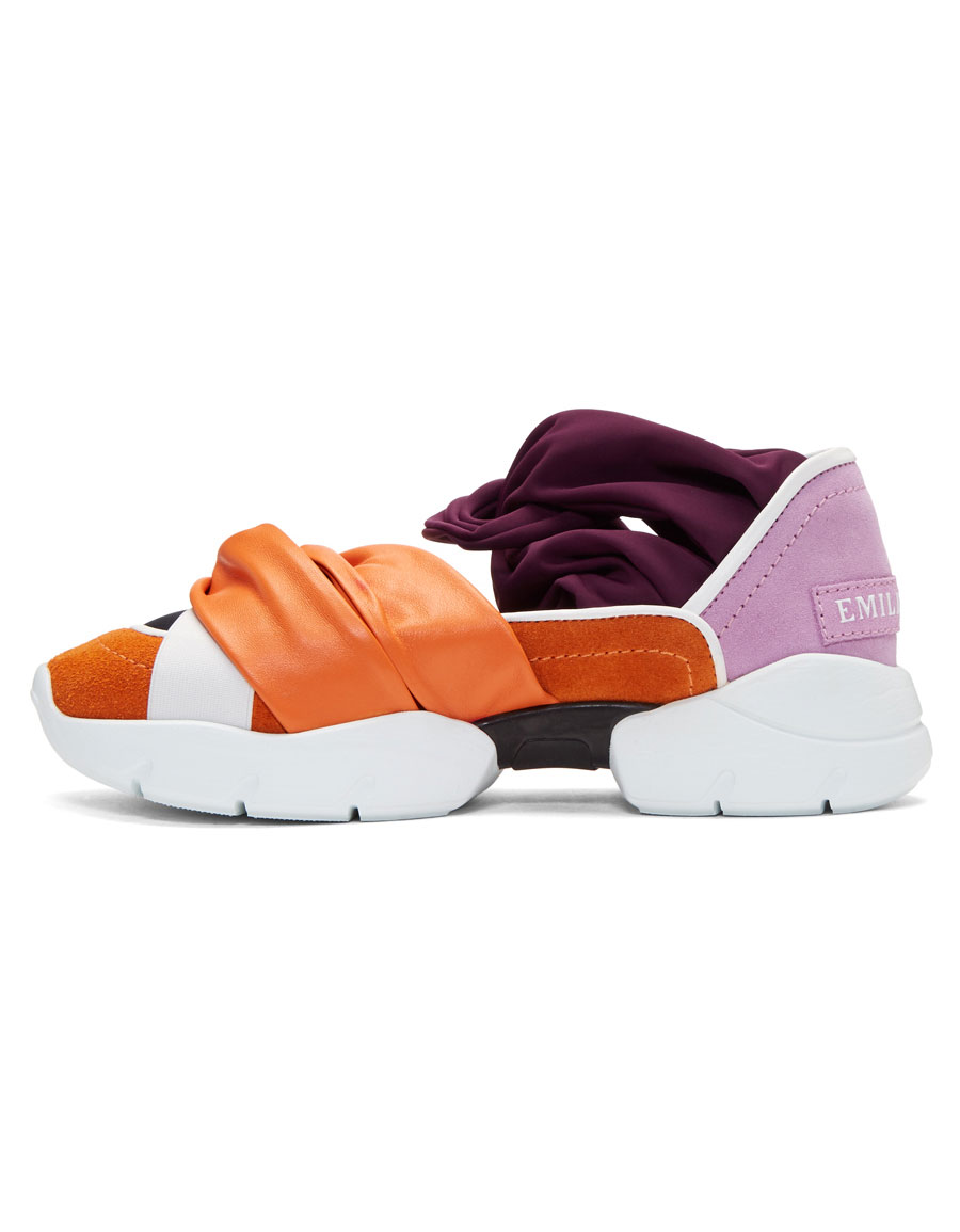 EMILIO PUCCI Orange & Purple City Ballerina Sneakers