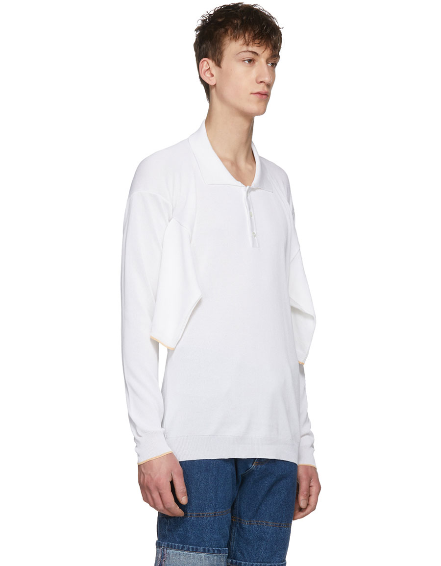 Y/PROJECT White Four Sleeve Polo