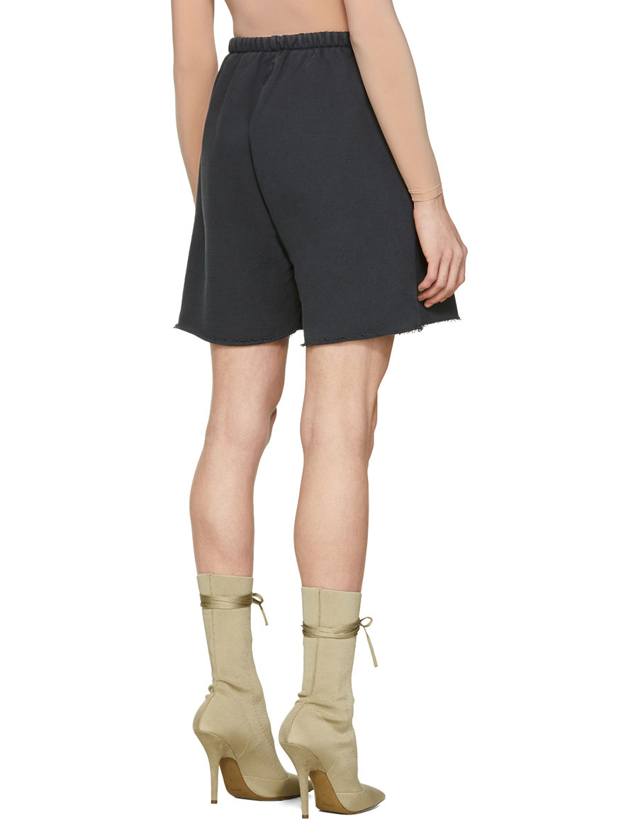 YEEZY Black French Terry Shorts