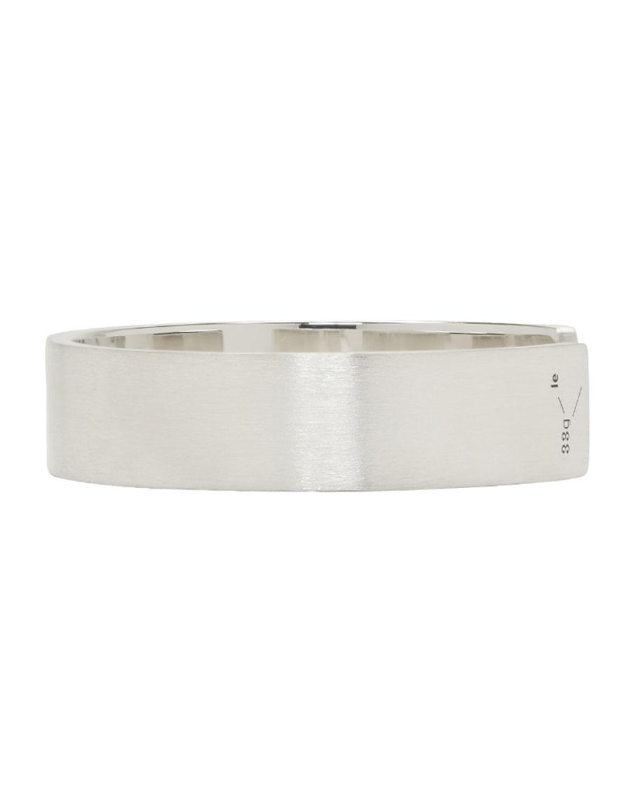 LE GRAMME Silver Brushed 'Le 33 Grammes' Bracelet
