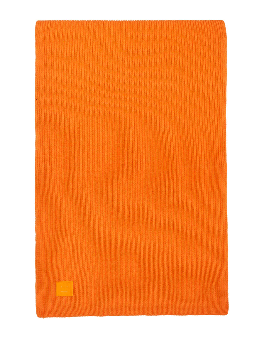 ACNE STUDIOS Orange Bansy Face Scarf