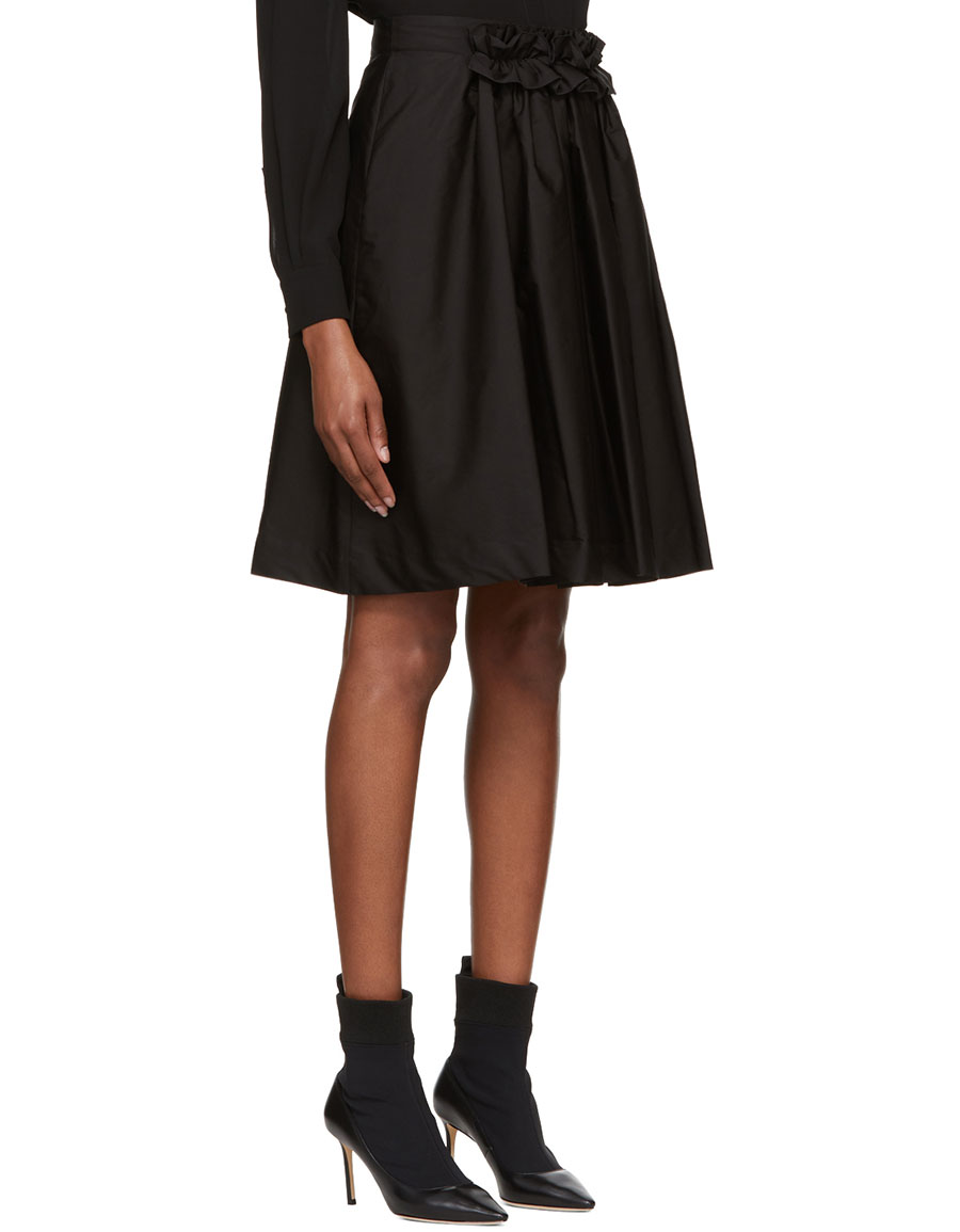 LANVIN Black Poplin Skirt