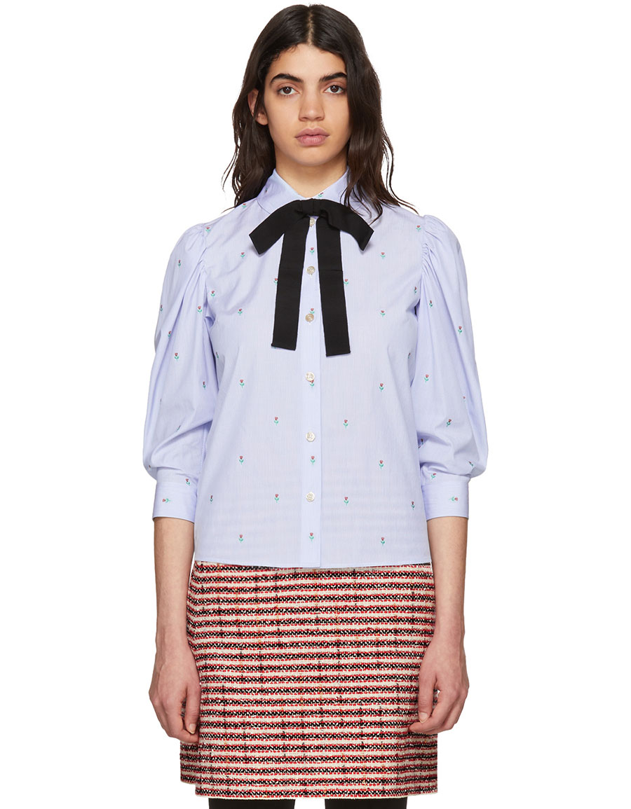 GUCCI Blue Rose Shirt
