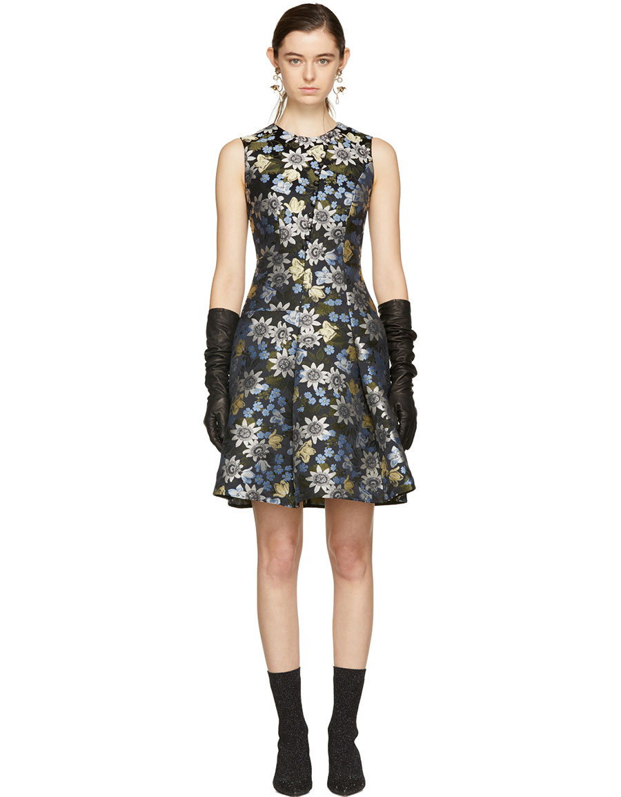 ERDEM Multicolor Yesim Dress