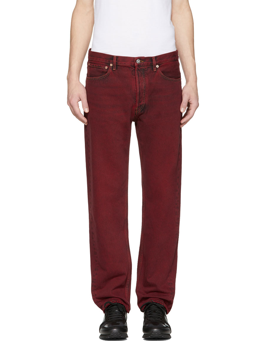 VALENTINO Red Cropped 50s Fit Jeans