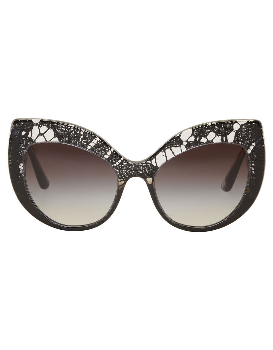 DOLCE & GABBANA Black Lace Inlay Sunglasses