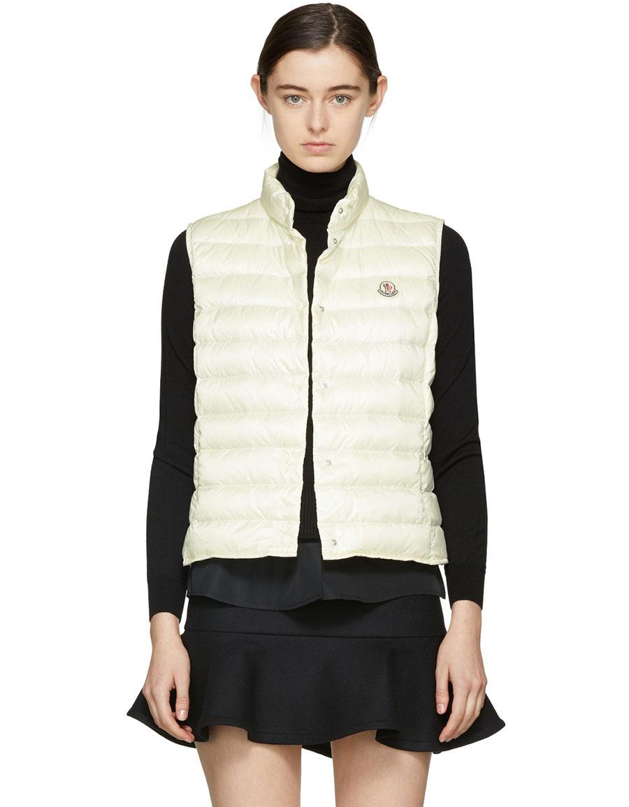 MONCLER Off White Down Liane Vest