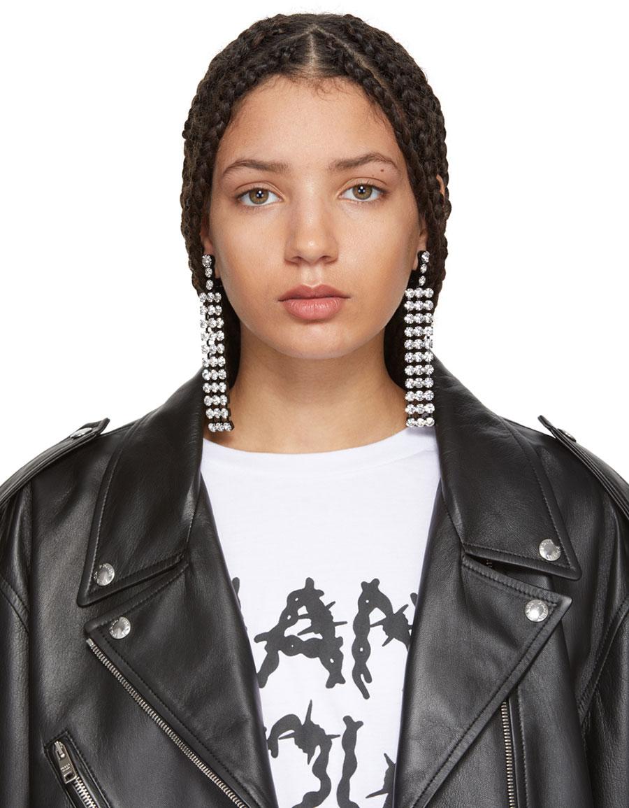 ASHLEY WILLIAMS Black Cindy Earrings