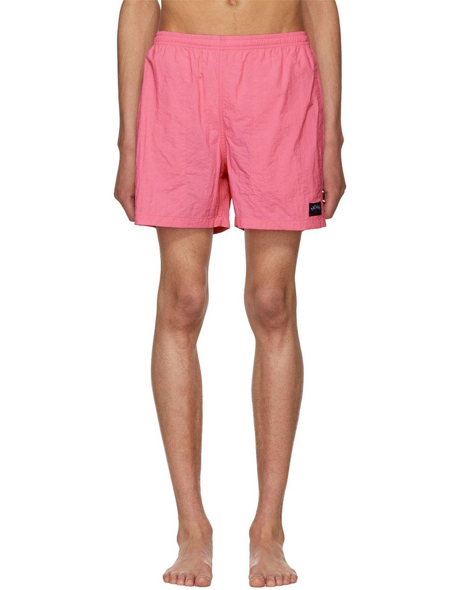 NOAH NYC Pink Swim Shorts