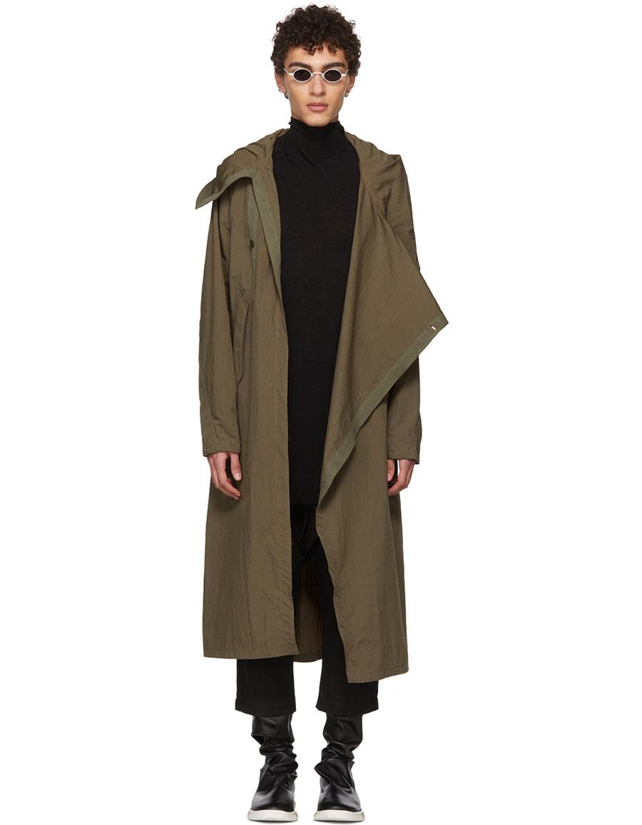JULIUS Green Typewriter Cloth Coat
