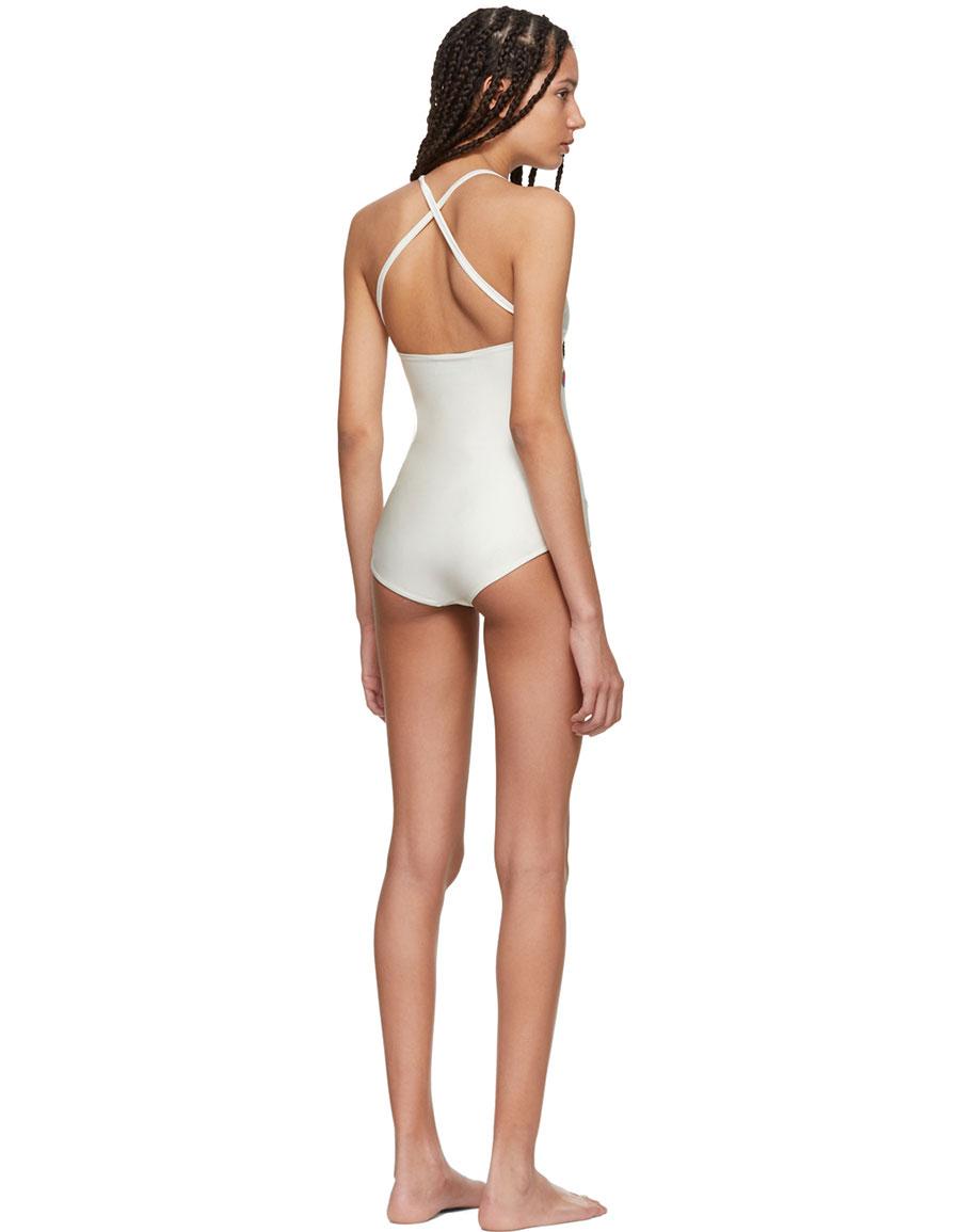 GUCCI White Logo Swimsuit