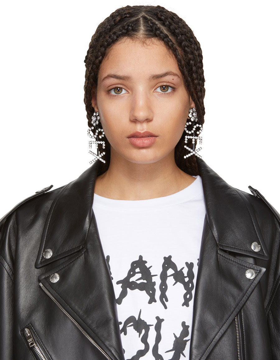 ASHLEY WILLIAMS SSENSE Exclusive Black 'Sex' Earrings