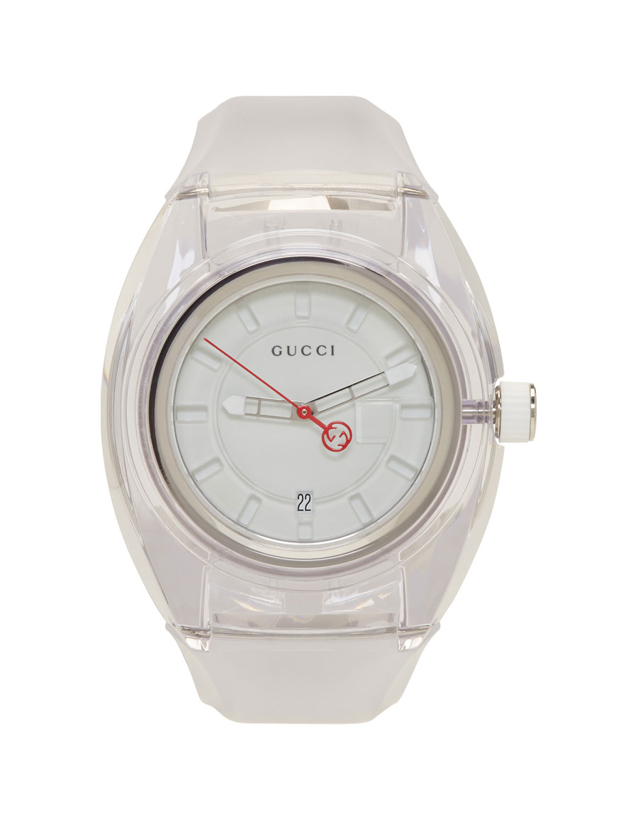GUCCI White Transparent G Sync Watch