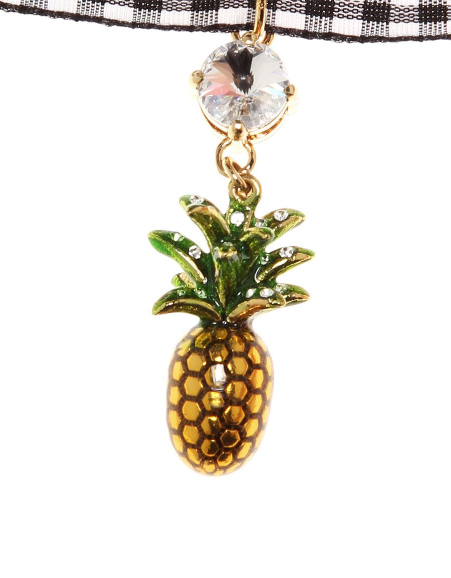 b496b4f3ef461 MIU MIU Embellished pineapple choker · VERGLE