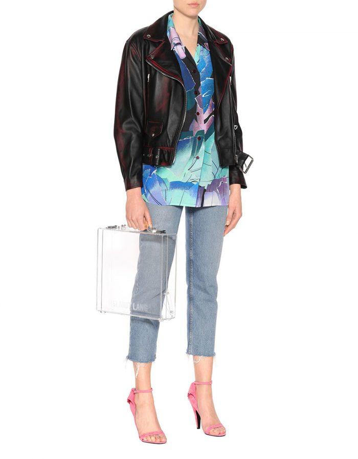 ACNE STUDIOS Merlyn 2 Tone leather jacket