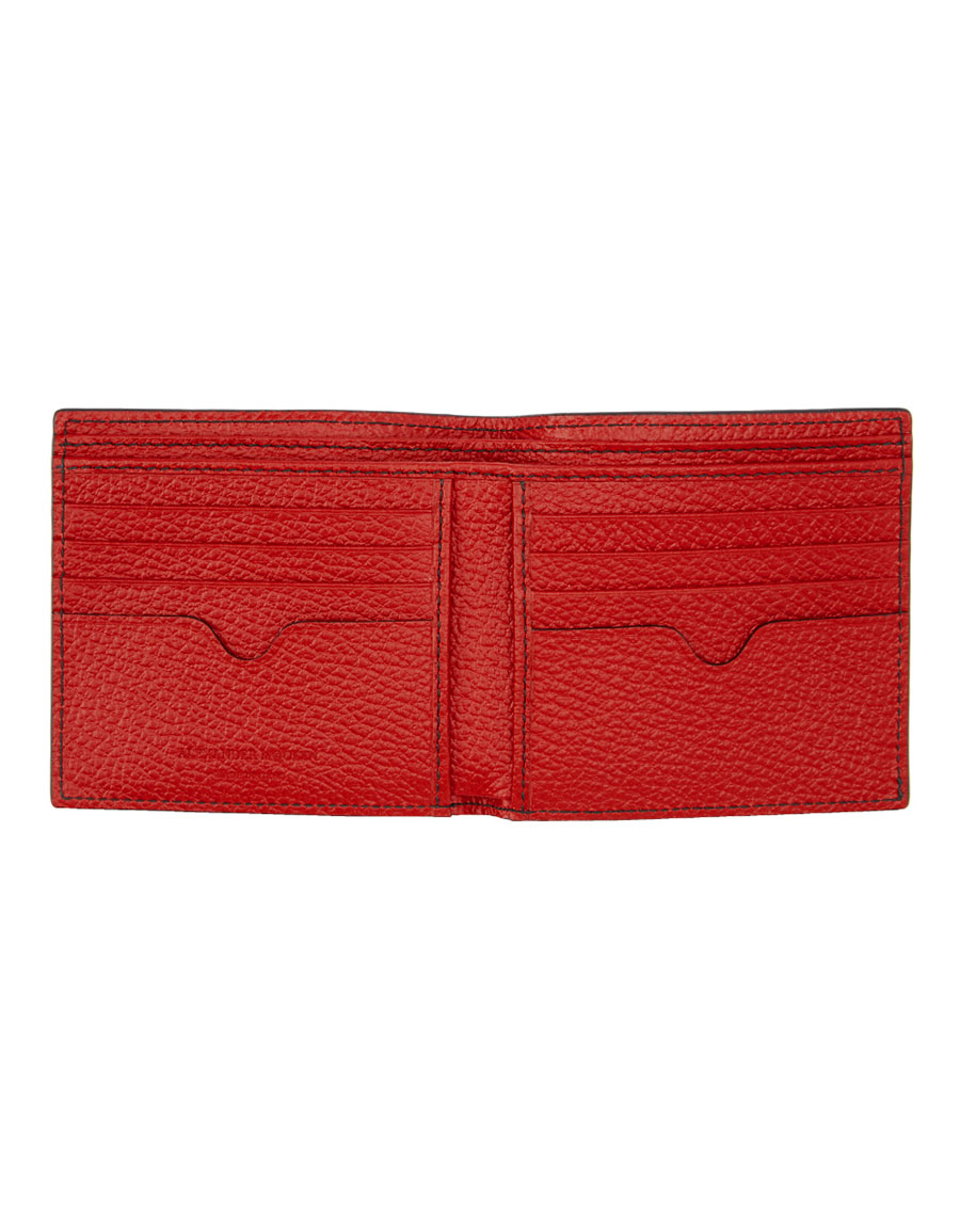 ALEXANDER MCQUEEN Red Dancing Skeleton Wallet