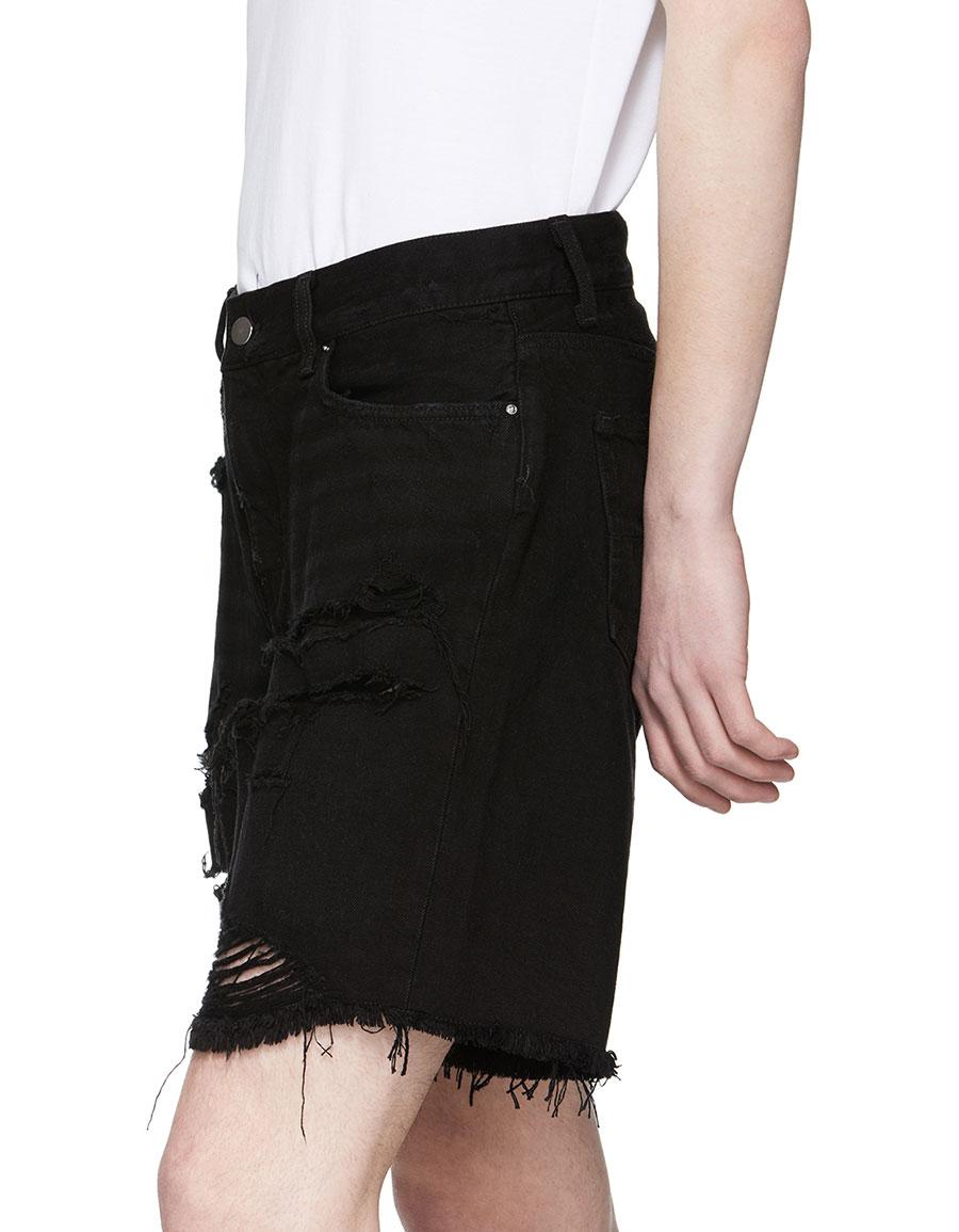 AMIRI Black Thrasher Denim Shorts