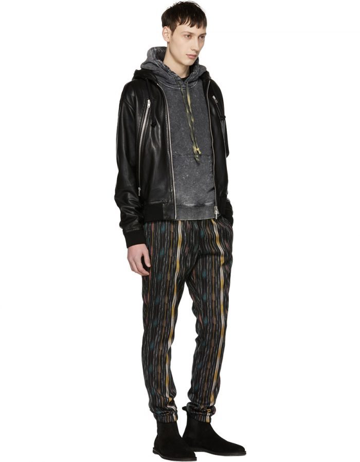 SAINT LAURENT Multicolor Striped Ikat Trousers