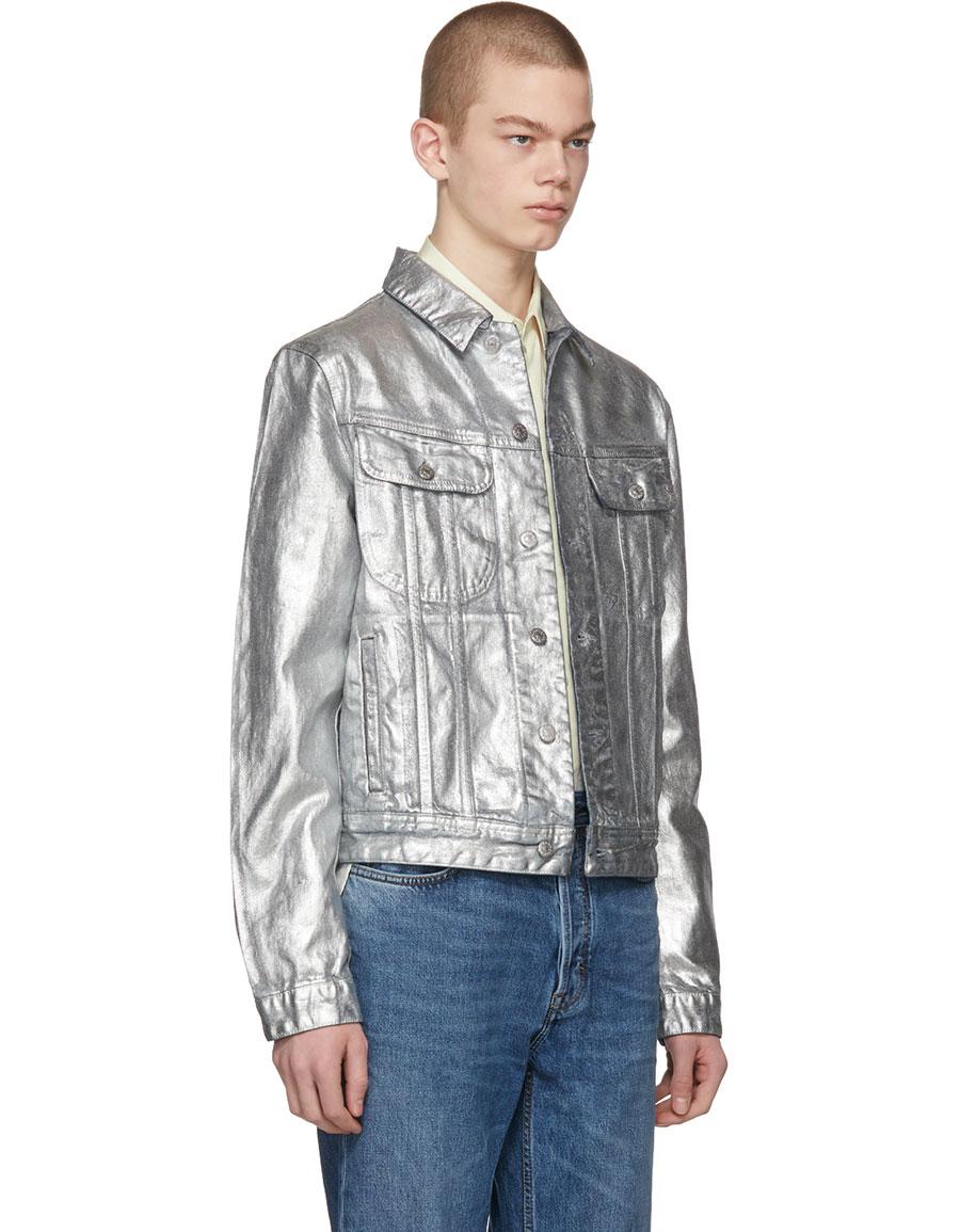 ACNE STUDIOS Silver Denim Tent Jacket