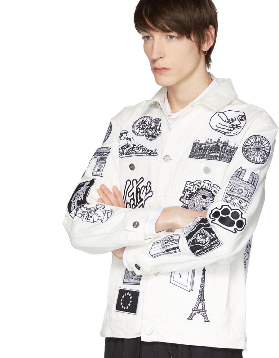 ÉTUDES White Denim Guest Patch Jacket