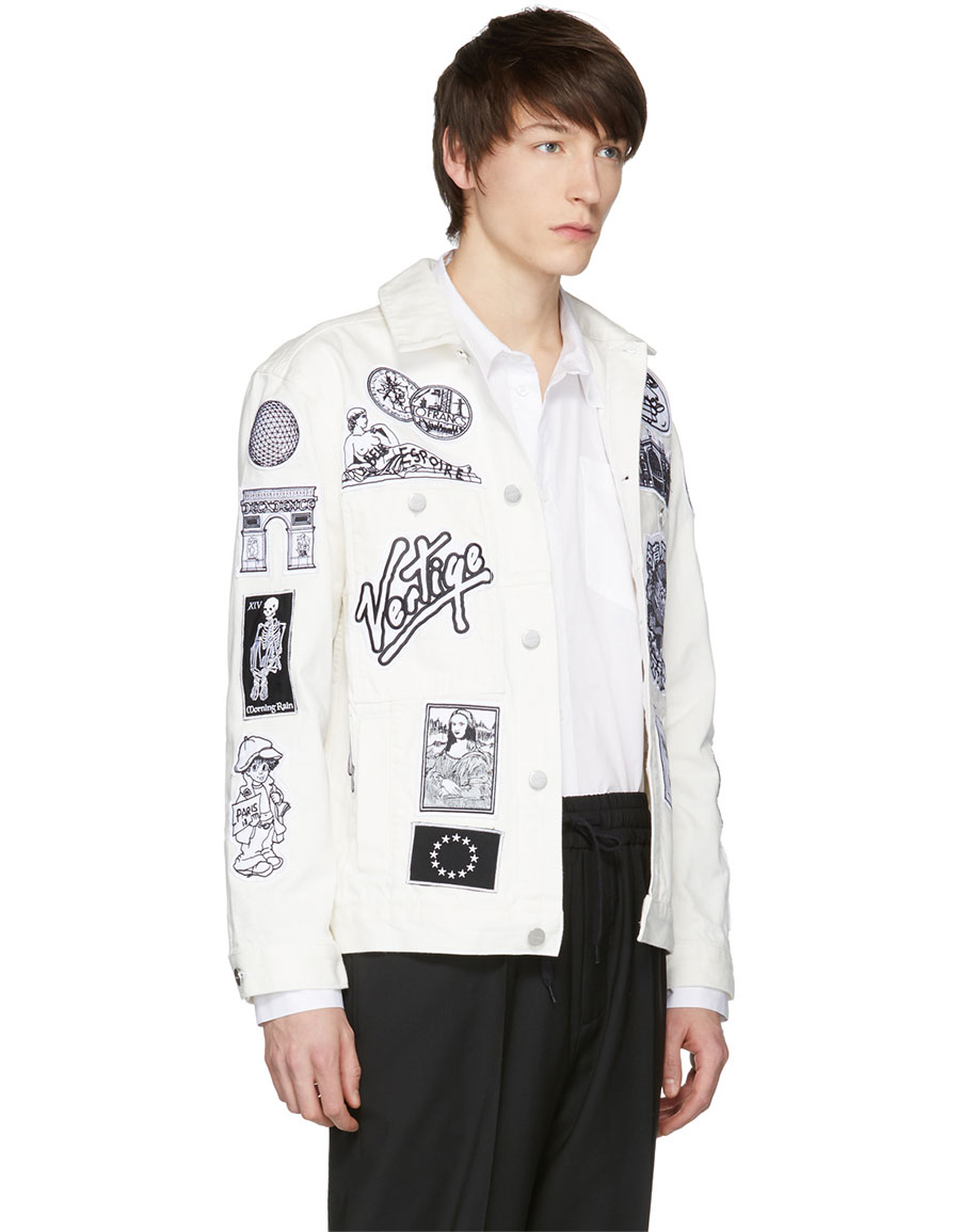 ÉTUDES White Denim Guest Patch Jacket