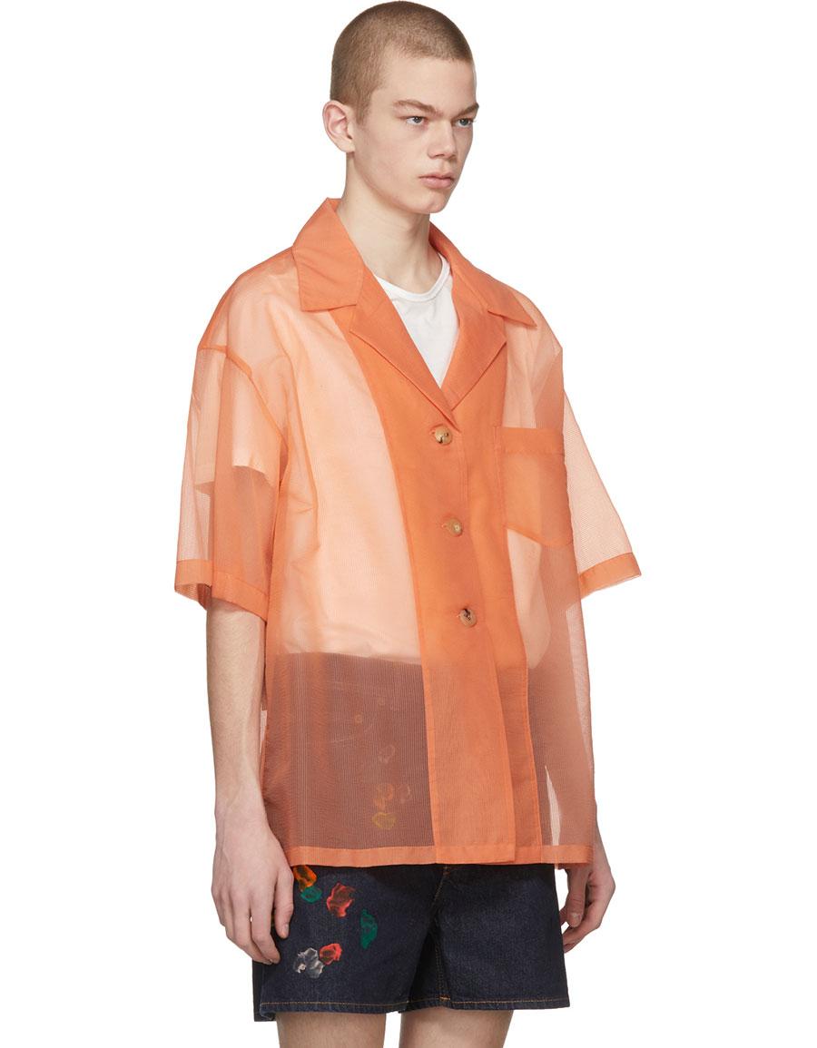 ACNE STUDIOS Orange Relovo S Seer Shirt
