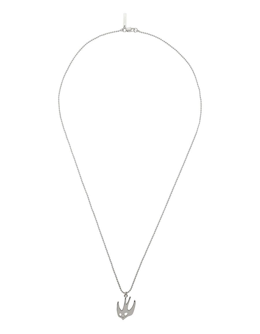 ALEXANDER MCQUEEN Silver Ball Chain Swallow Necklace