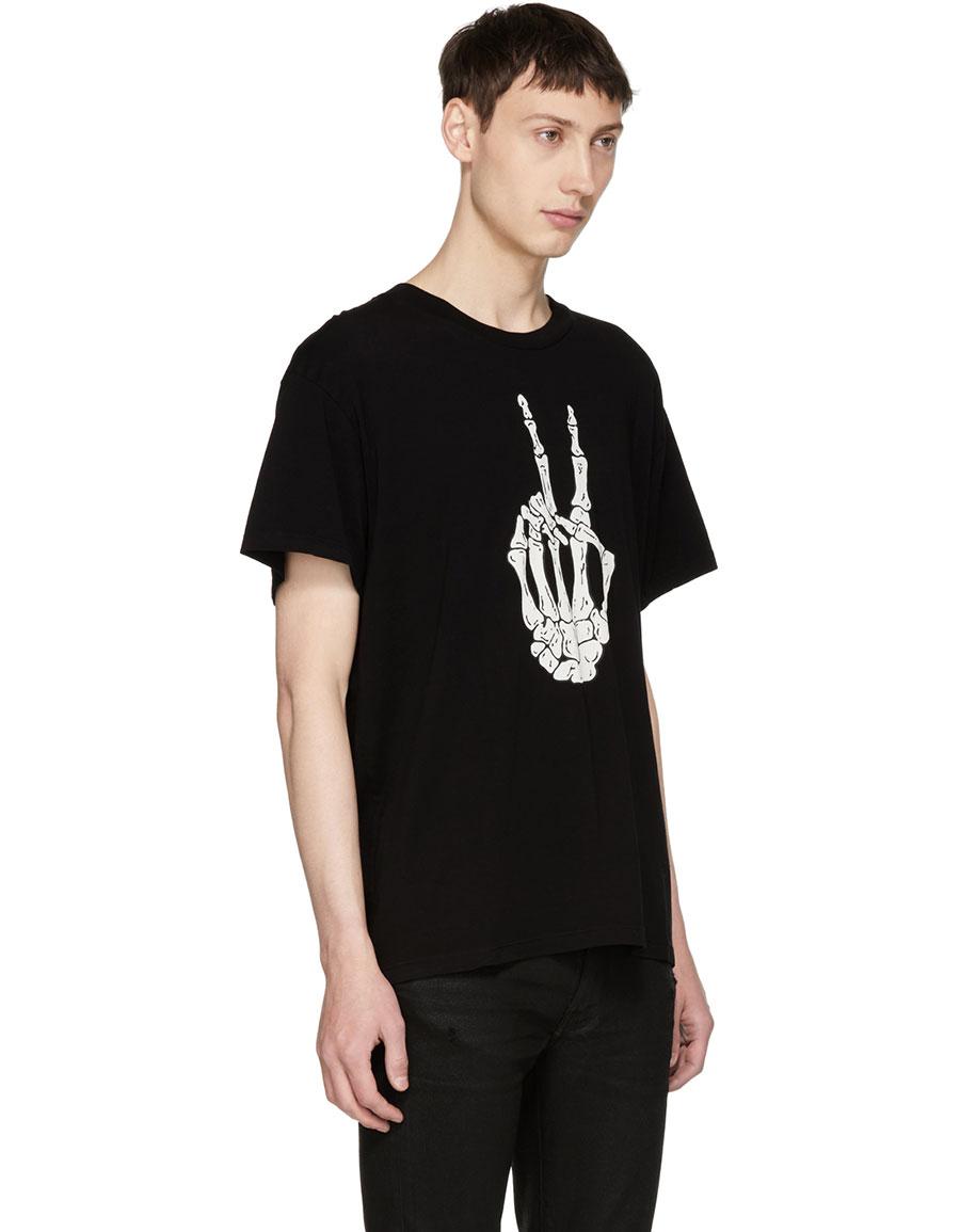 AMIRI Black Peace Bones T Shirt
