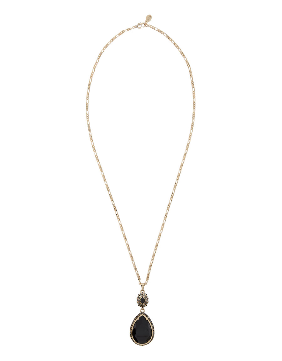 ALEXANDER MCQUEEN Gold Long Jewelled Necklace
