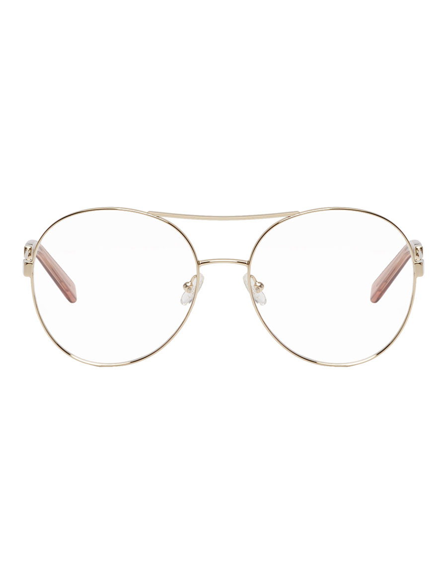 CHLOÉ Gold Jacky Aviator Glasses