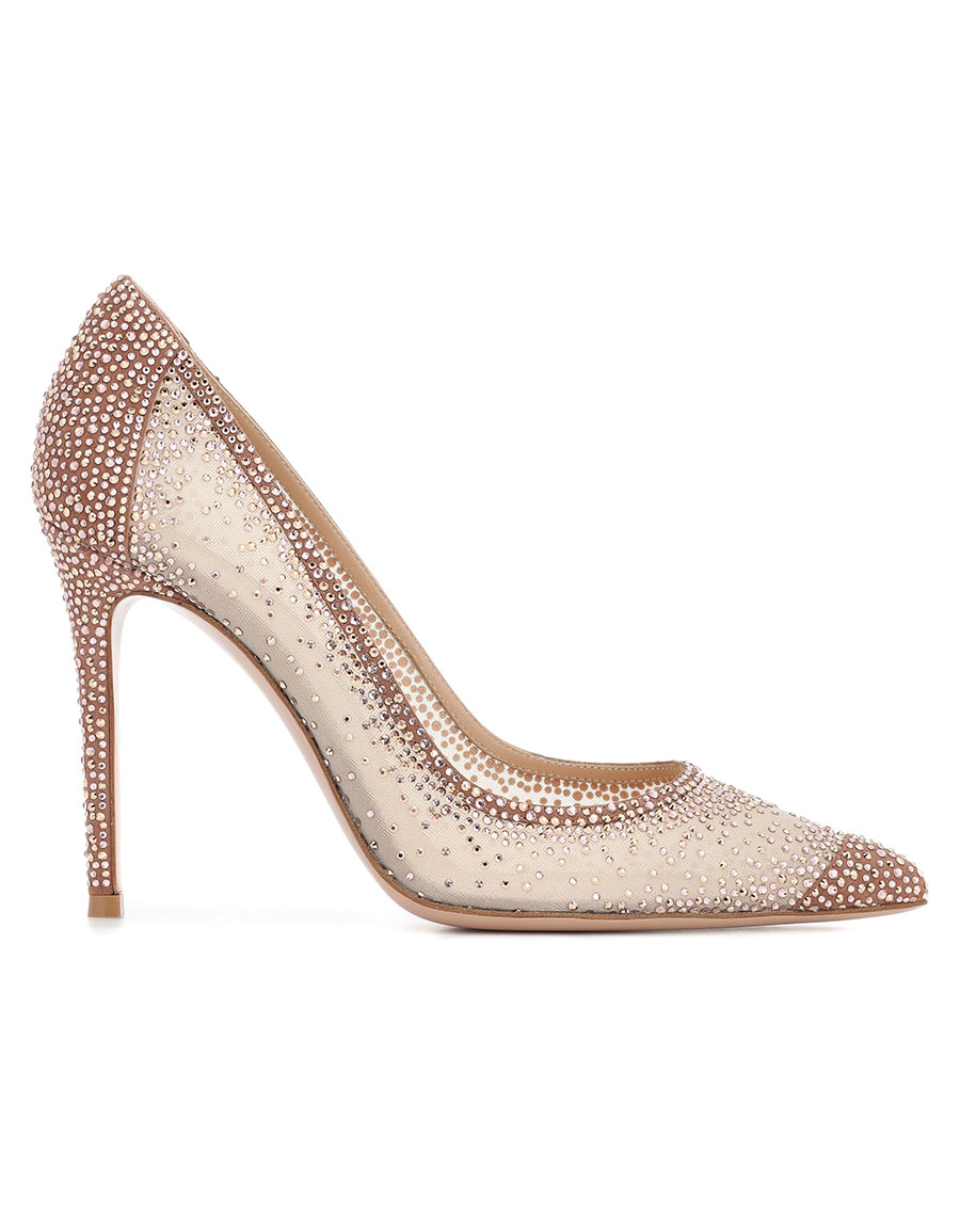 GIANVITO ROSSI Rania crystal embellished pumps