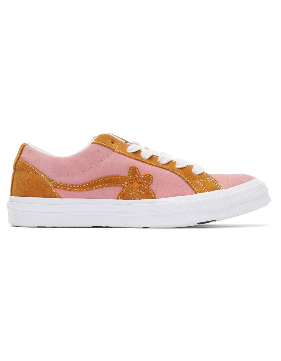 Converse Pink Orange Golf Le Fleur Edition Golf 6 1 One Star Sneakers Vergle